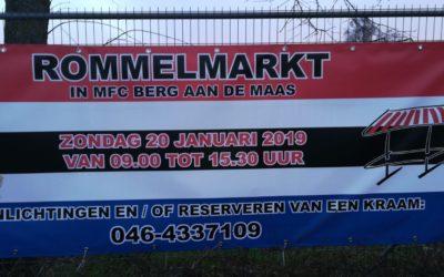 Zondag 20 januari: Rommelmarkt in het MFC in Berg aan de Maas