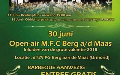 Zaterdag 30 juni 2018: Open Air MFC Berg aan de Maas
