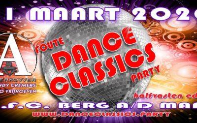 Zaterdag 21 maart 2020: Foute Dance Classics Party